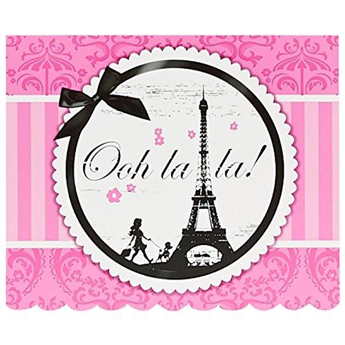 Paris Eiffel Tower Damask Party Supplies - Invitations (Damask Party Invitation)