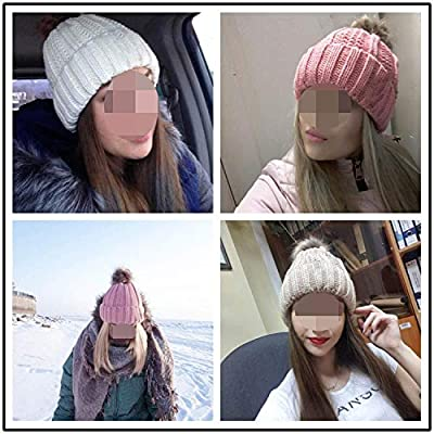 2019 Winter Hat for Women Fashion Solid Warm Hats Knitted Cap Brand Thick Female Cap Wholesale