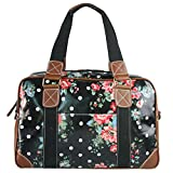 Miss Lulu Ladies Print Oilcloth Hand Shoulder Travel Overnight Weekend School Bag