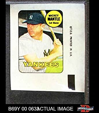 Amazoncom 1969 Topps Decals Mickey Mantle New York Yankees