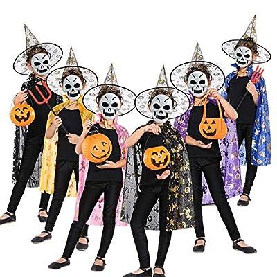 Party Diy Decorations - Halloween Costume Wizard Witch Cloak Cape Robe Hat Dancing Party Kindergarten Children School - Hood Winter Wizard Uniform Spider Zentai Halloween Cloak Red Kindergarten