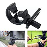 Lzwow Arrow Rest for Compound Bow Hunting for Left Right Hand Brush Capture Black