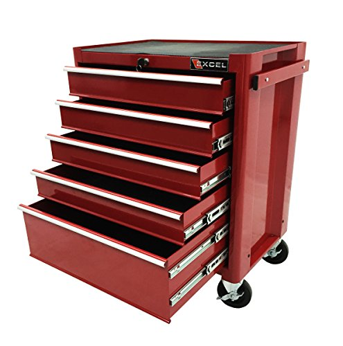 Excel TB2090BBSB-Red 27-Inch Steel Roller Cabinet, Red (Tool Chest Roller Metal)