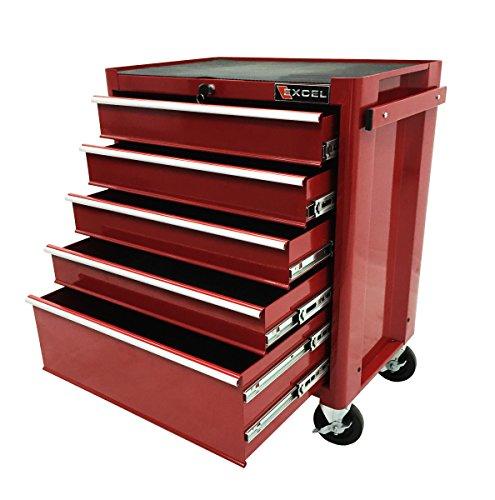 27-Inch Steel Roller Cabinet, Red (Excel Roller Cabinet)