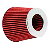 K&N RG-1001RD Universal Clamp-On Air Filter: Round Tapered; 3 in/3.5 in/4 in (102 mm/89 mm/76 mm) Flange ID; 5.5 in (140 mm) Height
