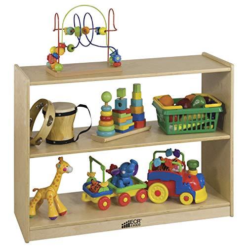 - ECR4Kids Birch 2 Shelf Storage Cabinet, Backless Wood Book Shelf Organizer/Toy Storage for Kids, Natural