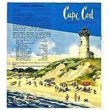 Cape Cod The Alluring Vacationland Brochure 1950 #39;s Massachusetts