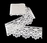 eZthings Venise Edging Lace Trim from Eyelet Fabric for DIY Craft Venice Trims