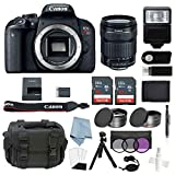 Canon EOS Rebel T7i Bundle With EF-S 18-135mm f/3.5-5.6 IS STM Lens + Canon T7i Camera Advanced Accessory Kit – Including EVERYTHING You Need To Get Started