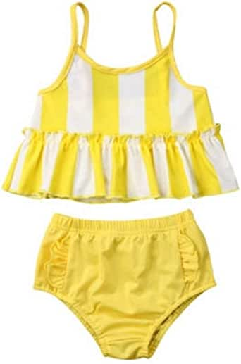 Amazon.com: Fafalisa Kids Baby Girls Swimming Tankini