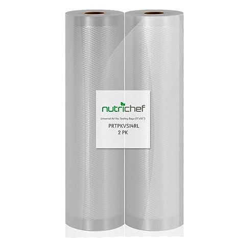 Amazon.com: NutriChef – Bolsas de sellador al vacío, 2 ...