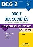 DCG 2 - Droit des sociétés - 2018/2019 - L'essentiel en fiches