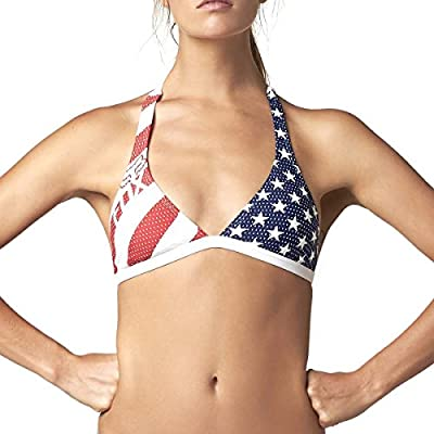 Fox Racing Womens Red, White and True Fixed Halter Top