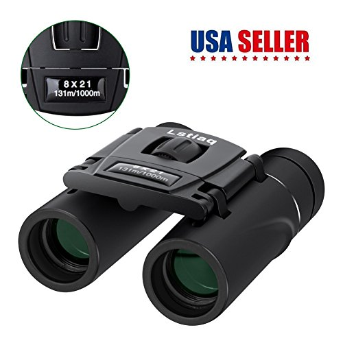 Binoculars Mini Lightweight Binoculars Pocket Binoculars Foldable full optical glass For Opera Concert, Travel, Hiking, Bird Watching, observing outdoor scenery,hunting,climbing (Black)