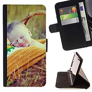 Momo Phone Case / Flip Funda de Cuero Case Cover - Naturaleza lindo picnic de primavera Madre - LG Nexus 5 D820 D821
