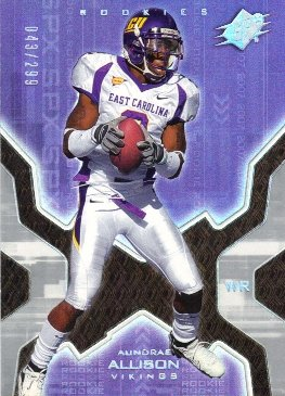 2007 SPx Silver Holofoil Rookies #134 Aundrae Allison /299 from SPX
