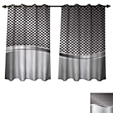 Anzhouqux Silver Blackout Thermal Backed Curtains for Living Room Technology Structure with Wavy