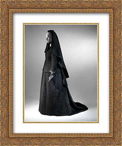 American Culture - 20x24 Gold Ornate Frame and Double Matted Museum Art Print - Mourning Bonnet