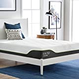 LUCID 10 Inch Queen Latex Hybrid Mattress - Cooling Gel Memory Foam - Responsive Latex Layer