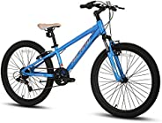Hiland 20 Inch 24 Inch Kids Mountain Bike 7 Speed MTB Bicycle for Youth with Suspension Fork Urban Commuter Ci