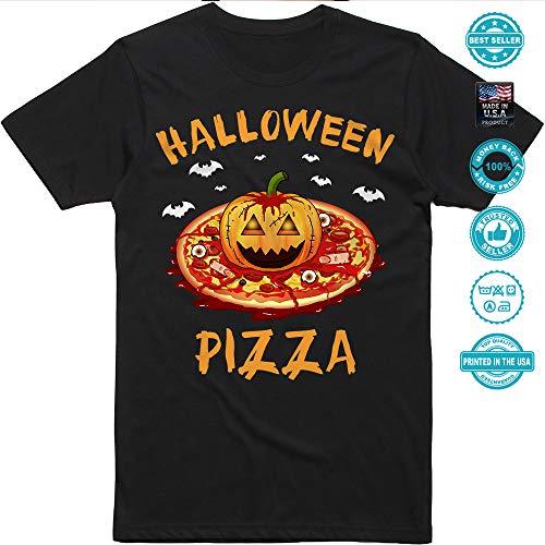 Creepy Pizza Pumpkin Jack-O'-Lantern Halloween Pizza Costume Customized Handmade T-Shirt Hoodie/Long Sleeve/Tank Top/Sweatshirt]()