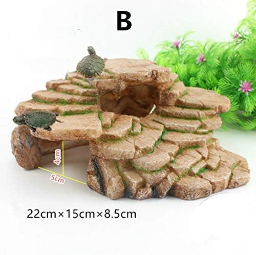 TWGDH Plataforma Acuario Tortuga Solarium Reptil Plataforma Tortuga acuática decoración del Acuario Anfibio Suba Fish Tank Escalera (Color : B, Size: Amazon.es: Productos para mascotas