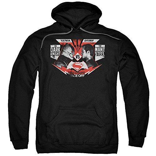 Trevco Men's Batman Vs. Superman Ultimate Face Off Hoodie Sweatshirt at Gotham City Store