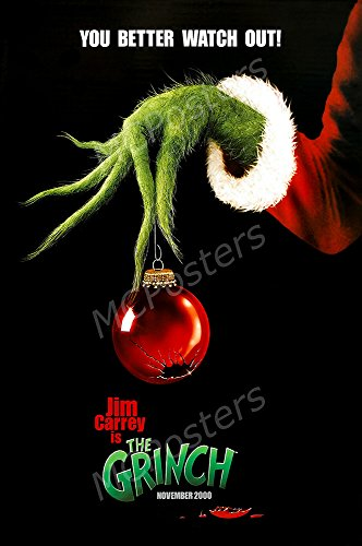 MCPosters The Grinch Jim Carrey GLOSSY FINISH Movie