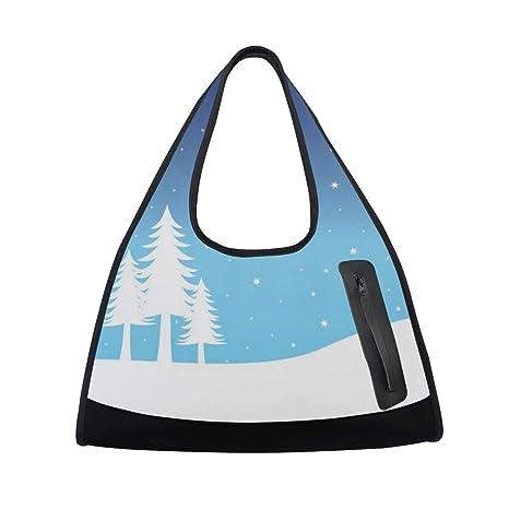 a4dc10c6da0c Amazon.com  HUVATT Duffel Bags Snow Landscape Womens Gym Yoga Bag Fun Tote  Beach Bag for Men  Sports   Outdoors