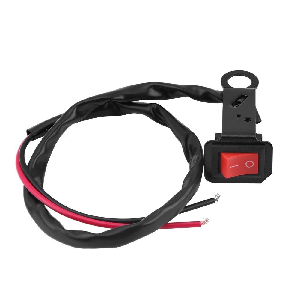 Interruptor de manillar de motocicleta universal con interruptor LED de interruptor de encendido y apagado interruptores de luz LED con arn/és de cableado