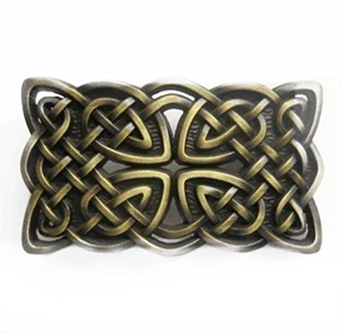 Irish Celtic Cross and Knot Belt Buckle - Irish Belt