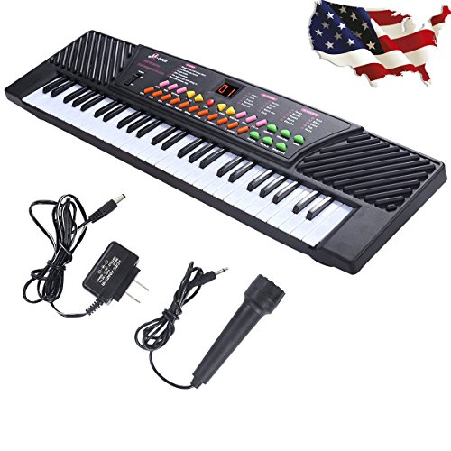 [해외]New 54 Keys Music Electronic Keyboard Kid Electric Piano Organ WMic & Adapter This Keyboard Is Definitely The Best Gift For Your Children External SpeakerMicrophoneDCAC Powe / New 54 Keys Music Electronic Keyboard Kid Electric Pian...