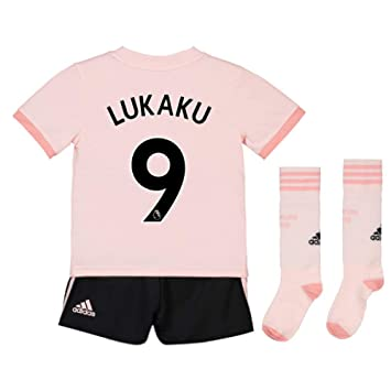 UKSoccershop 2018-19 Man Utd Away Mini Kit (Romelu Lukaku 9)  Amazon ... 609e6e0f6