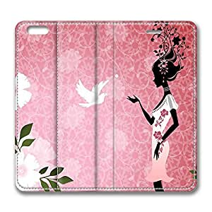 iPhone 6 Leather Case, Personalized Protective Flip Case Cover The Flower Girl for New iPhone 6