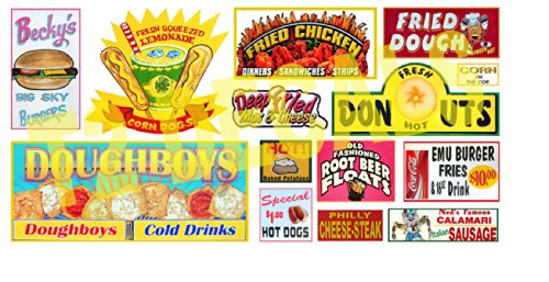 HO Scale Circus Sideshow Carnival Food & Beverage