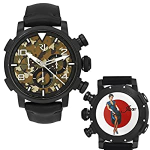 Romain Jerome Pinup DNA WWII June Garter Chrono Auto Men Watch RJ.P.CH.002.01