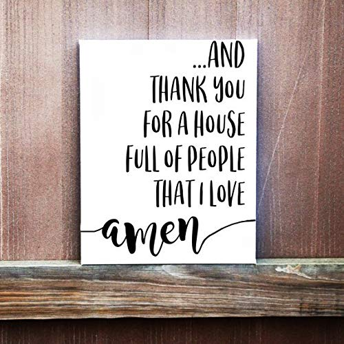 (Olga212Patrick Family Wood Plaque Sign Thankful Wall Decor Thank You for A House Full of People That I Love Wood Plaque Sign Housewarming Gift Rustic Family Wood Plaque Sign)