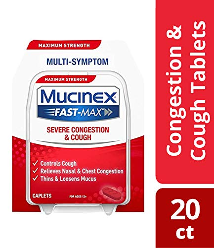 Mucinex Fast-Max Severe Congestion & Cough Caplets, 20ct (Wake Up With Stuffy Nose And Headache)