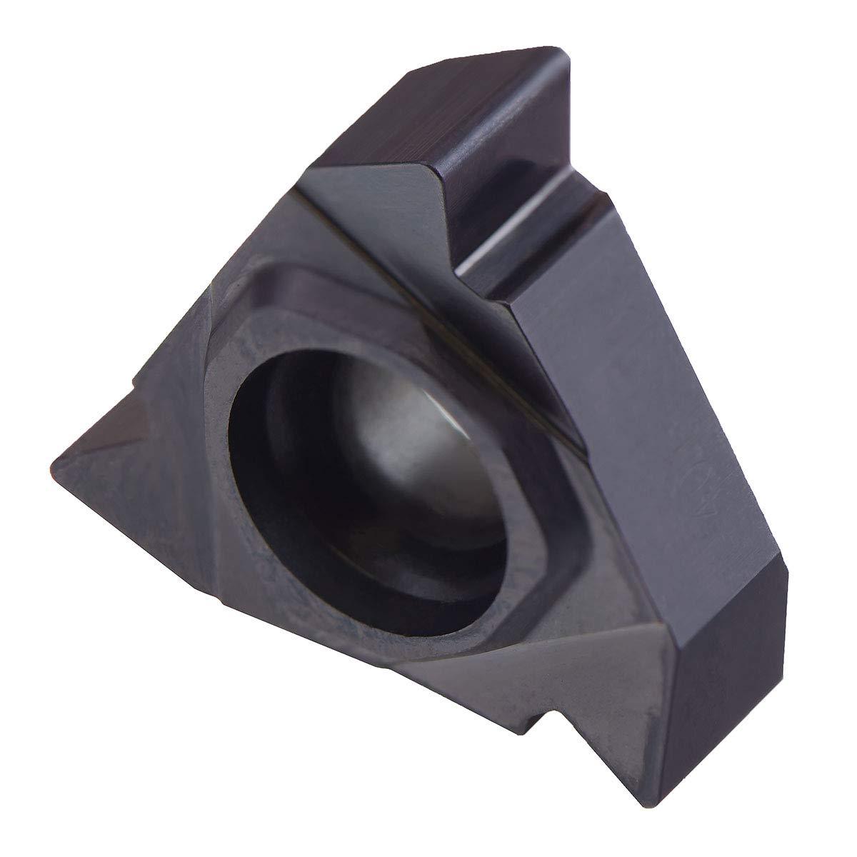 12 TPI Carbide TIALN-Coated; 16ER12UN-A02 MAXTOOL 2PCs 16ER12UN External American UN Full Profile Indexable Threading Inserts 3//8 I.C