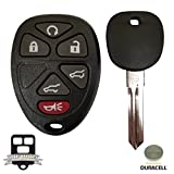 Remote Store OUC60270 6 Button Keyless Entry Remote Key Fob Replacement with Duracell Battery