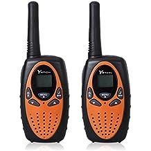 YETION Walkie Talkies for Kids 22 Channel Two Way Radios UHF Long Range Built-in Microphone Hand Free Toy Walkie Talkie for Children (Orange)