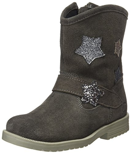 MTNG Unisex-Kinder Nova Kurzschaft Stiefel Grau (Suede Gris Oscuro / Glitter Mini Plata Vieja)