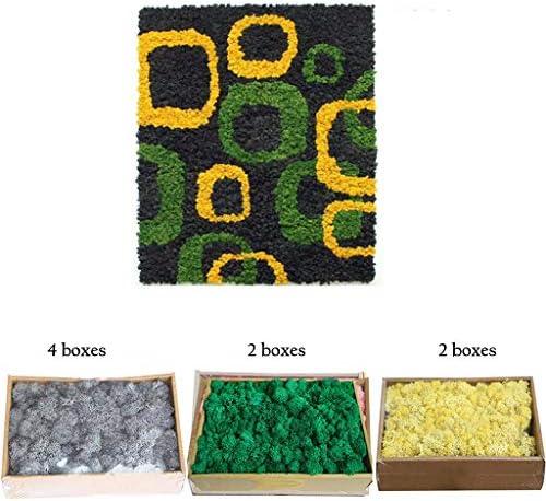 人工花の壁、3色デザイン工芸用人工苔芸術的な背景絵画 (Color : Multi-colored)