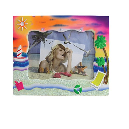 - Rockin Gear Picture Frame Tye Dye Sand Textured Photo Frame - Holds a 4
