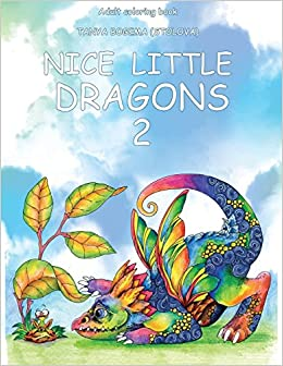 Nice Little Dragons: Adult Coloring Book Coloring pages for ...