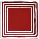 Entertaining with Caspari Stripe Border Paper Salad/Dessert Plates, Red, Pack of 8