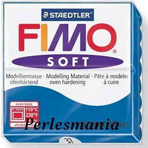 perlesmania.com Loisirs cr/éatifs 1 Pain 56g Pate polym/ère FIMO Soft Bleu Pacifique REF 37