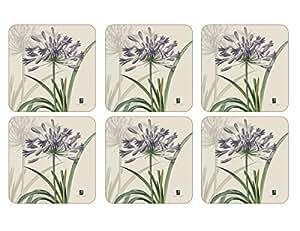 Pimpernel Agapanthus Coasters - Set of 6