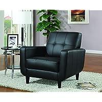 Coaster 900204 Vinyl Accent Chair, Black