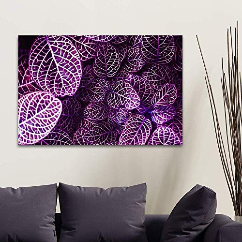 Watercolor Style Small Purple Textured Leaves